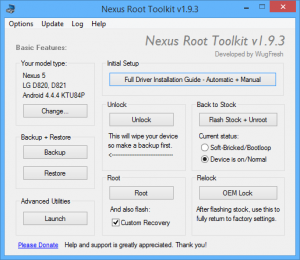 Download Nexus Root Toolkit v2.1.9 (2020) for Windows 7/8/10